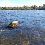 Nádherný deň na jeseňne čistom Dunaji.
